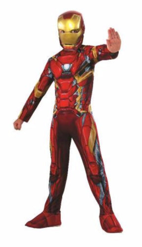 Iron Man Classic Costume, Child - Red Top Box