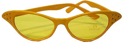 Edna Yellow Glasses - Tinted Lens - Red Top Box