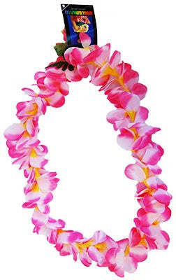 Frangipani Lei - Pink/Yellow - Red Top Box