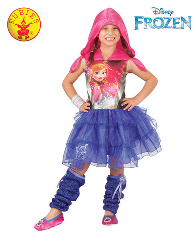 Anna Hooded Dress - Disney Frozen Princess - Red Top Box
