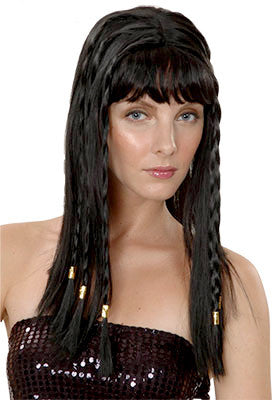 Egyptian Cleopatra w/Braids - Black - Red Top Box