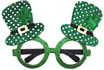 St Patricks Day Glasses - Top Hats - Red Top Box