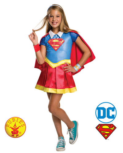 Dc Superhero Girl Deluxe Supergirl  - Rubie's Licensed - Red Top Box