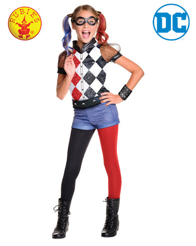 Harley Quinn Dcshg Deluxe - Size 9-12 - Brisbane Costumes
