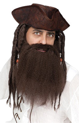 Crimped Pirate Beard - Brown - Red Top Box