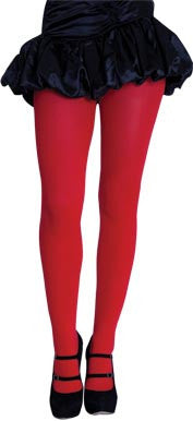 Full Length Color Tights - Red - Red Top Box