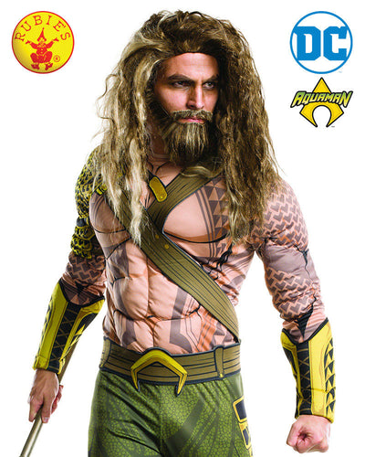 Aquaman Wig And Beard Adult - Red Top Box