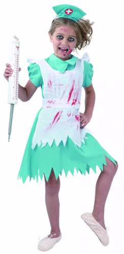 Blood Splattered Nurse - Child - Large - Red Top Box