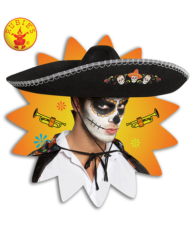 Day Of The Dead Sombrero Adult Hat