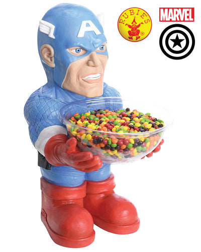 Captain America Candy Bowl Holder - Red Top Box