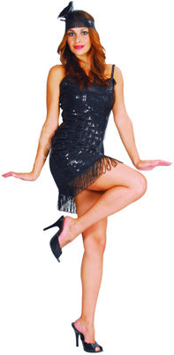 Flapper Girl - Black - Adult - Medium