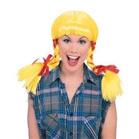 Country Girl Wig - Yellow - Brisbane Costumes