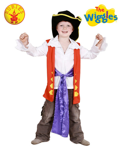 Captain Feathersword Dress Up Set, Child - Red Top Box