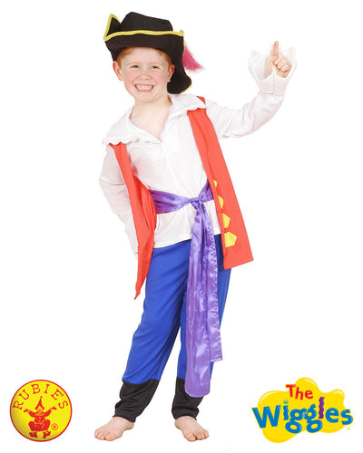The Wiggles Captain Feathersword Costume, Child - SALE - Red Top Box
