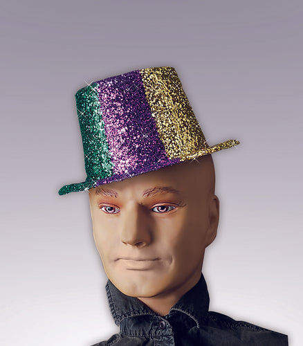 Glitter Top Hat Adult - Red Top Box