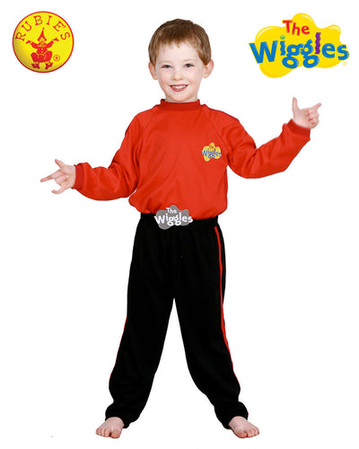 The Wiggles Simon Red Dress Up Boys Costume Sz 2 - 4  - Book Week - Red Top Box