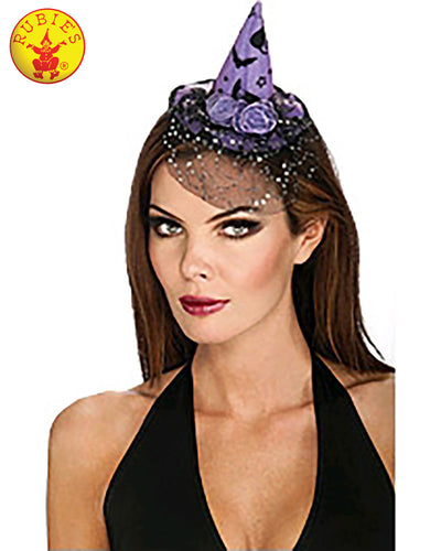Lavender Womens Witch Mini Hat - Brisbane Costumes