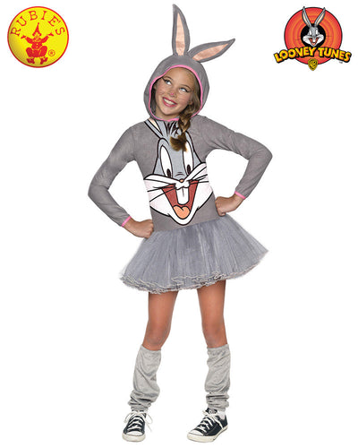Bugs Bunny Girls Hooded Costume