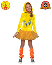 Tweety Girls Hooded Costume