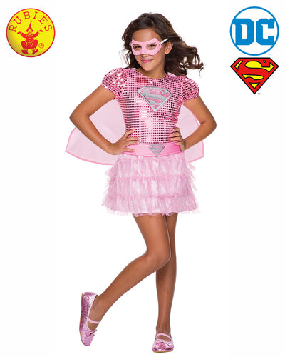 Pink Supergirl Sequin Costume - Rubie's Licensed