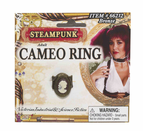 Steampunk Cameo Ring-Bronze - Red Top Box