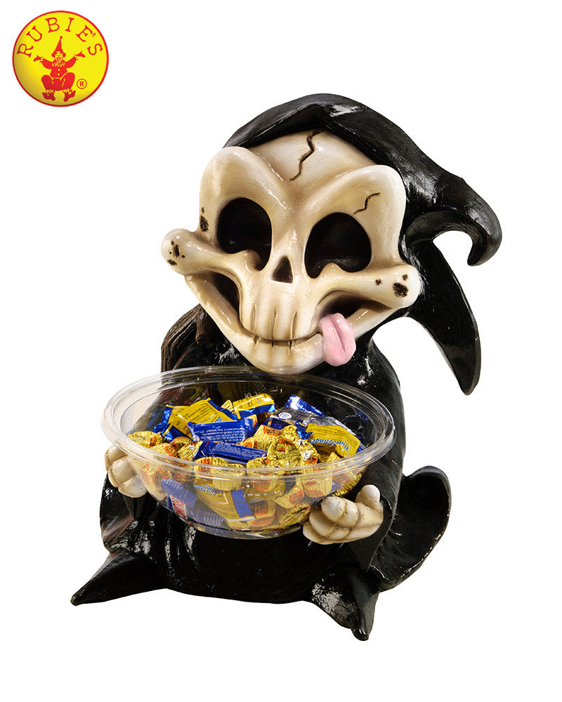 Grim Reaper Candy Bowl Holder - halloween Candy Holder - Red Top Box