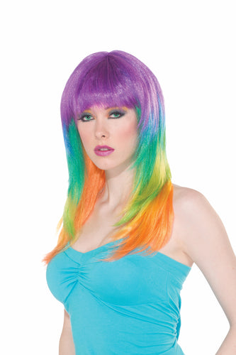 Club Candy Prism Wig Adult - Red Top Box