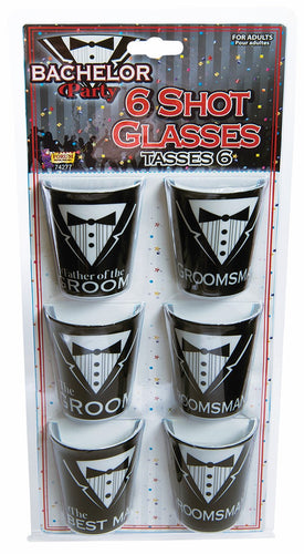 Bachelor Party Shot Glass Set - Red Top Box