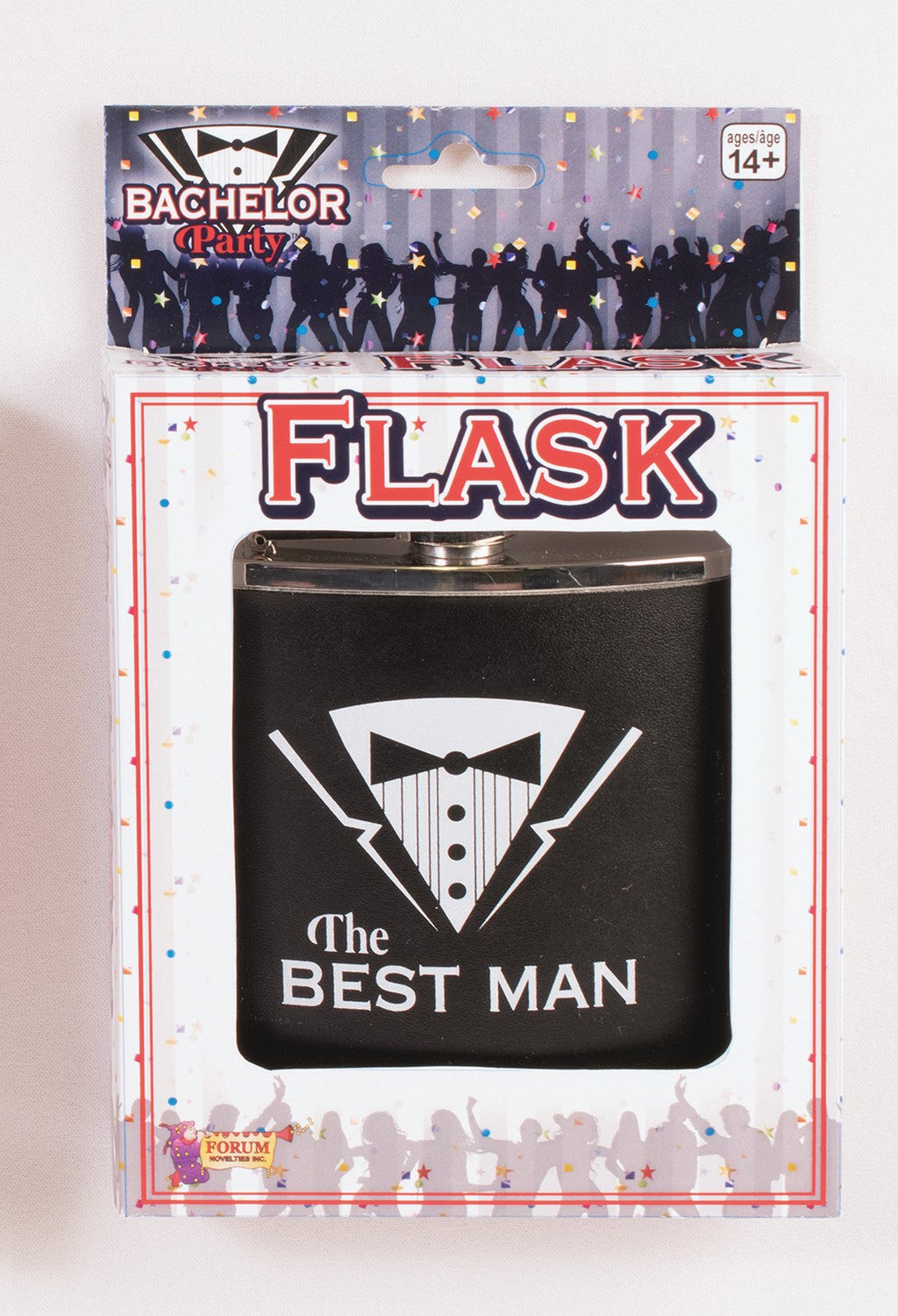 Bachelor Party Flask - Best Man - Red Top Box