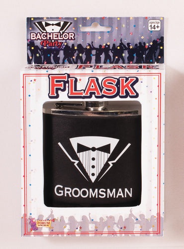 Bachelor Party Flask - Groomsman - Red Top Box