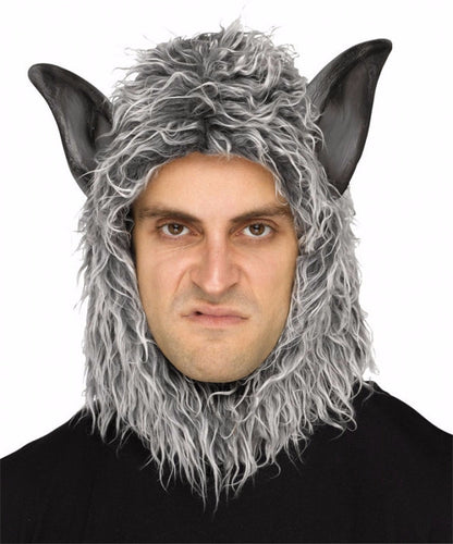 Man or Beast Hood - Grey Wolf - Red Top Box