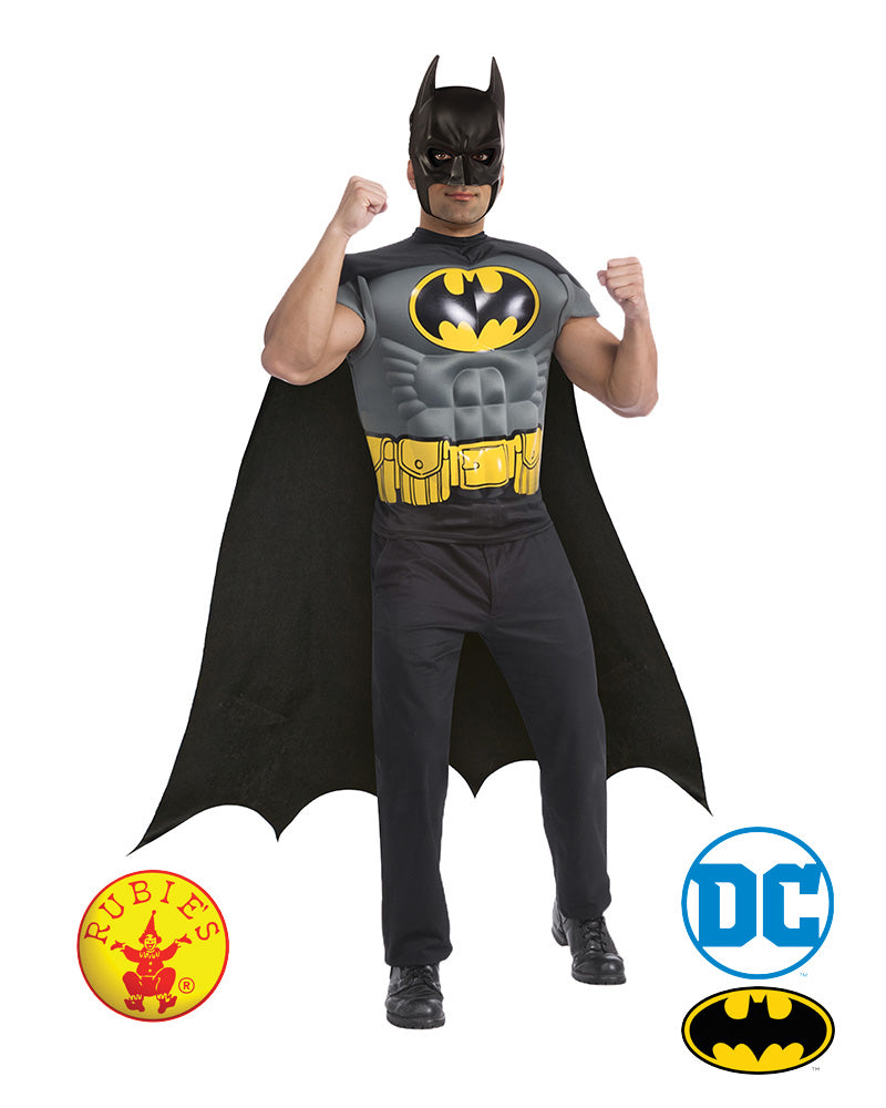 Batman Muscle Chest Shirt - Red Top Box