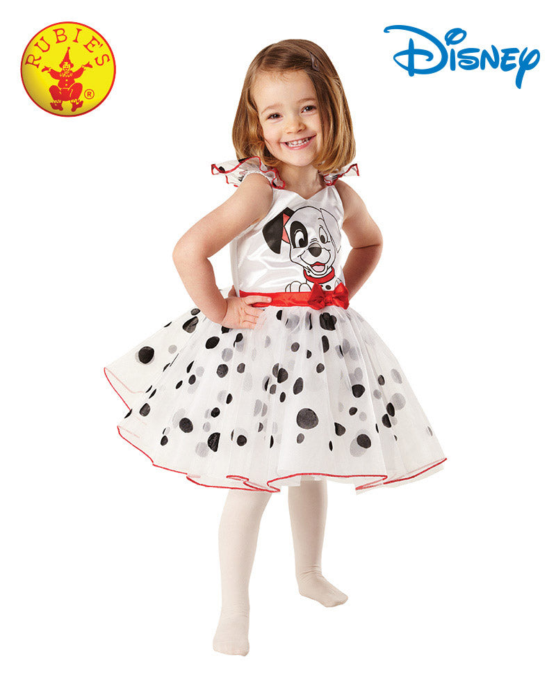 Disney officially licensed 101 Dalmation Girls Costume - Red Top Box