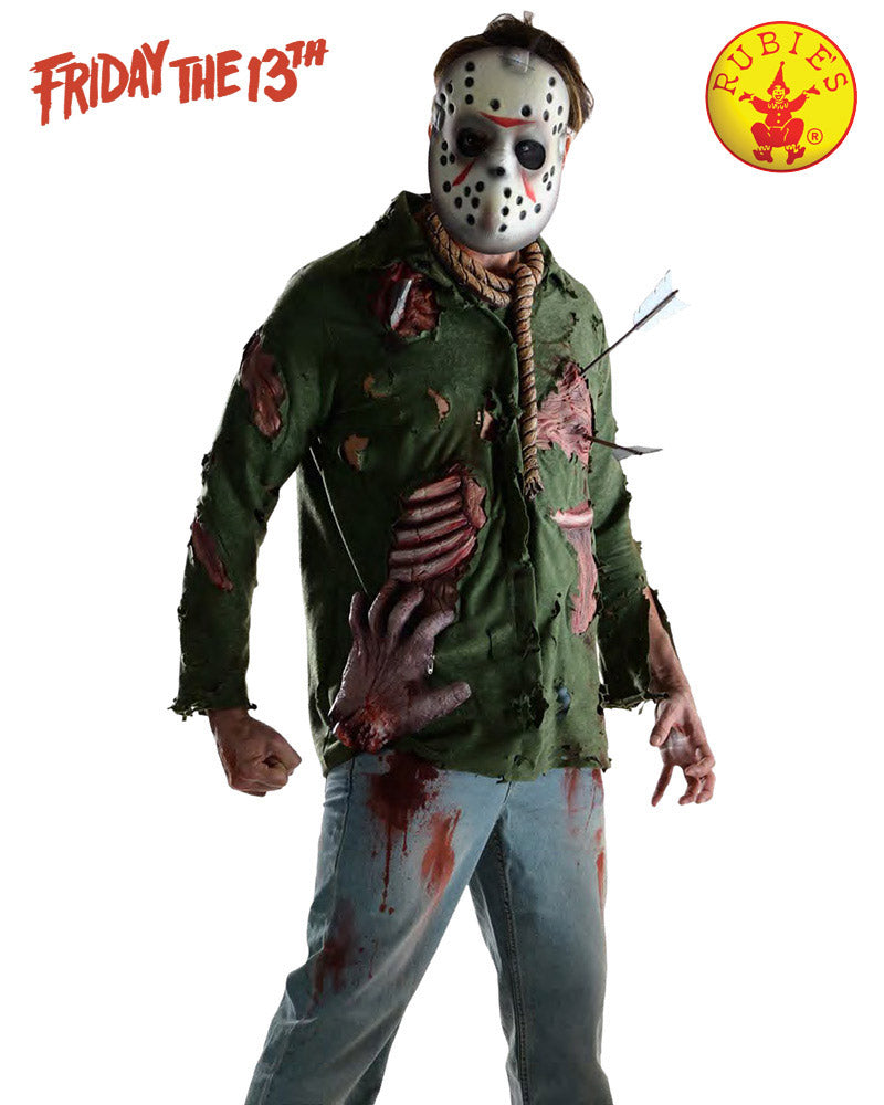 Halloween Costume Jason Friday 13th.Jason Deluxe Adults Friday The 13th