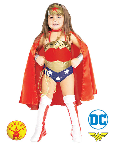 Child Deluxe Wonder Woman with Cape - Rubies' Licensed - Red Top Box