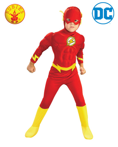Child Dlx Muscle Chest The Flash - Rubie's Licensed - Red Top Box