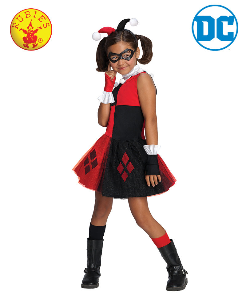 Licensed Child Girls Batman Harley Quinn Tutu Halloween Costume - Supanova - Oz Comic Con - Red Top Box