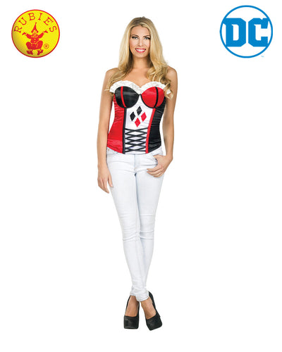Harley Quinn Corset - Red Top Box