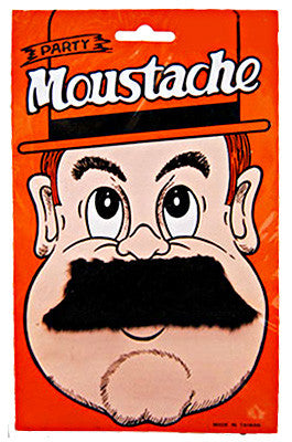 Moustache Short Straight - Black - Red Top Box