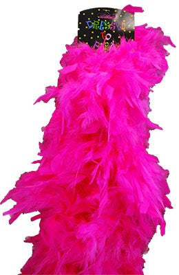 Deluxe Plush Turkey Boa 1.8m - HOT PINK - Red Top Box