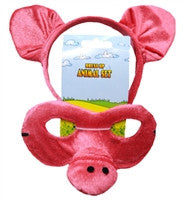 Animal Headband & Mask Set - Pig - Red Top Box