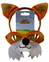 Animal Headband & Mask Set - Fox - Red Top Box