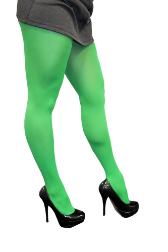 Full Length Color Tights - Green