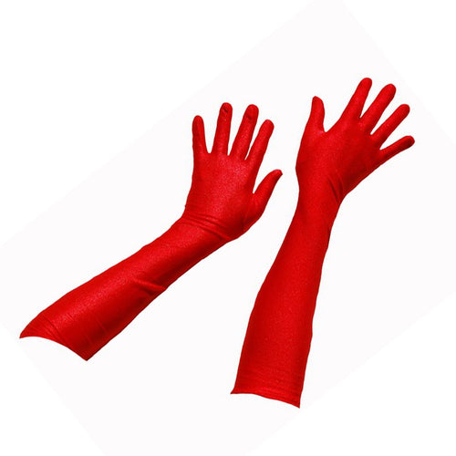 Red Satin Gloves - SALE - Brisbane Costumes