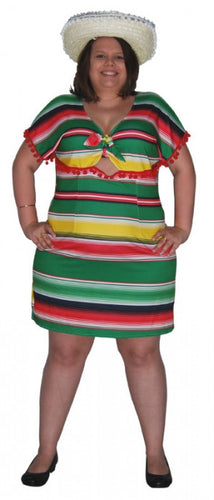 Mexican Dress - Adult Plus - Red Top Box