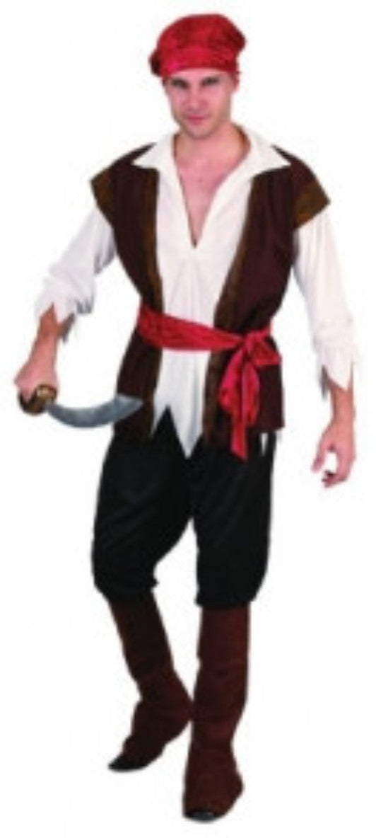 Pirate Man - Adult - Red Top Box
