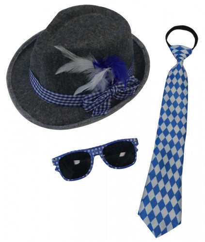 Oktoberfest Set - Glasses, Tie & Hat - Red Top Box