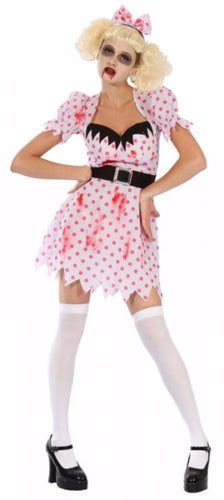Bloody Zombie Girl - Adult - Red Top Box