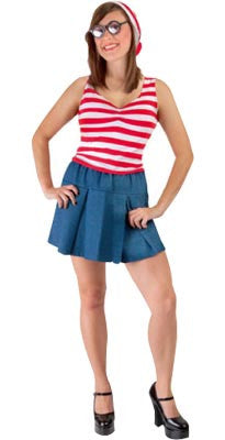 Wheres Wally Ladies- Adult - Red Top Box