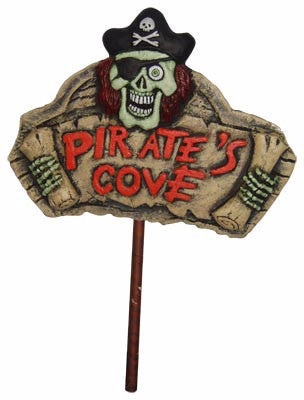 Light Up Sign w/Stake - Pirates Cove - Red Top Box